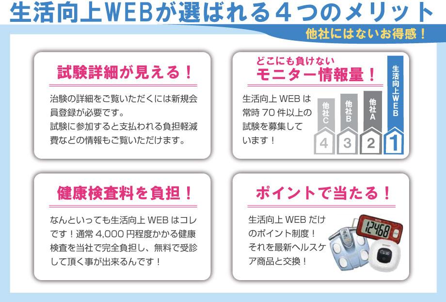 生活向上WEBが選ばれる4つのメリット